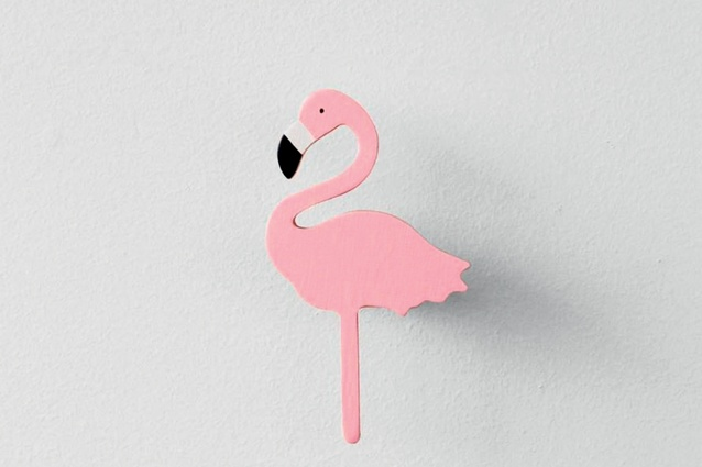 Miami Flamingo Wall Hook | $39 from <a 