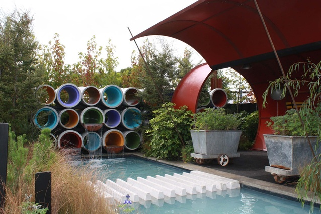 Landscape Colour Maestro Award winner - Max's Pipe Dream, a display garden by BECA.
