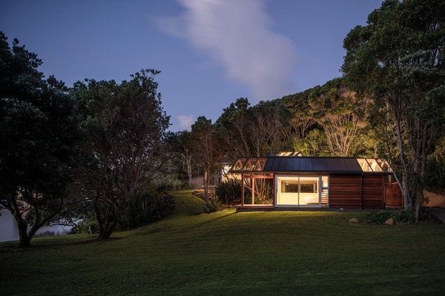 The huts have been positioned and designed to assimilate into their coastal bush setting.
