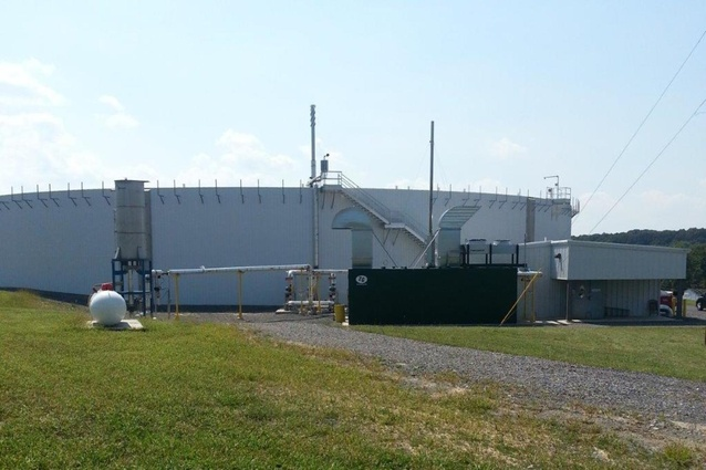 A 250kW containerised biogas turbine is part of an agricultural waste water treatment plant in Pennsylvania.