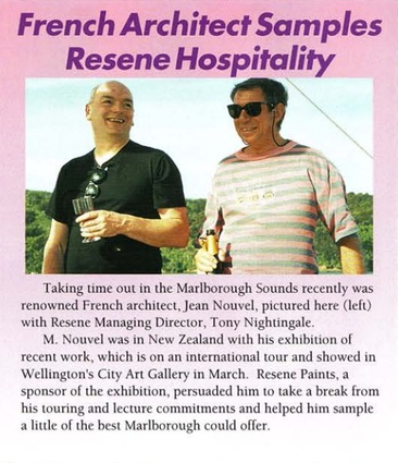 Remember that time Jean Nouvel dropped by for lunch and a cheeky pinot noir?