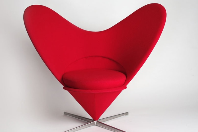 Heart Cone Chair, designed by Verner Panton for Vitra.