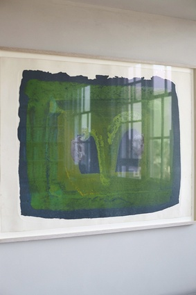 """""""When my husband, Ed's parents died he received an inheritance and instead of buying a flash car we bought this beautiful Howard Hodgkin painting."""""""