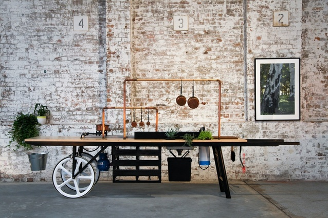 Best Temporary Design: Kitchen by Mike on Wheels.