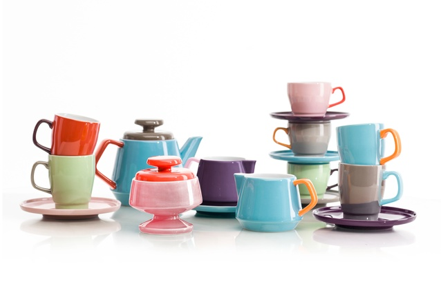 The complete POP range of earthenware.