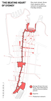 The Beating Heart of Sydney, street diagram.