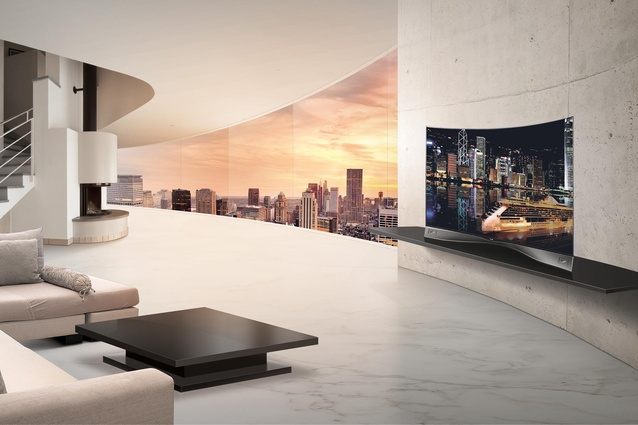 Best Technology: LG Curved OLED Television.