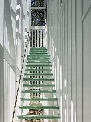 """At the back, another new staircase explores an under-celebrated phenomenon of the Queenslander, the """"defended outdoor stair."""""""
