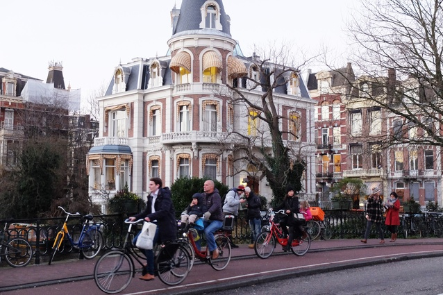 Amsterdam, where cycling is part of everyday life.