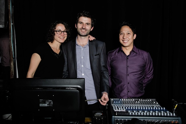Karina and Chris from Mulk with Paul of Bravo Productions.