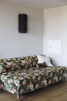 """""""This is from my furniture collection and is covered in 1950s Colefax and Fowler printed linen."""""""