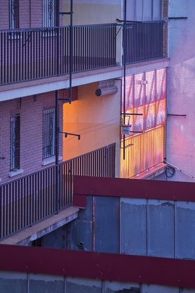 This apartment is perched in a small block of flats in Madrid.