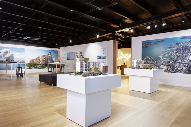 The Interior Of Display Suite Includes Architectural Models Two Buildings And Fully