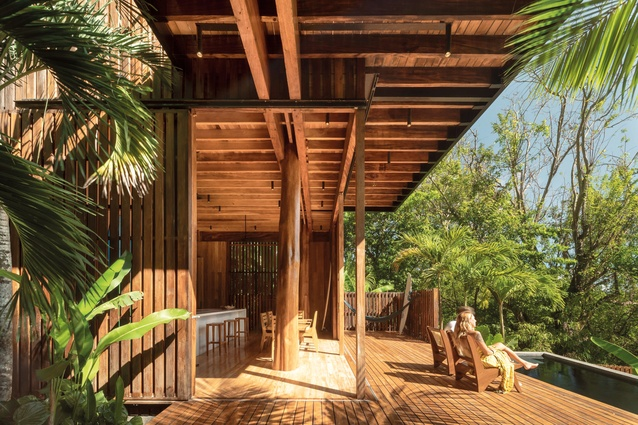 Local and sustainable materials bring a sense of natural warmth into this vacation home.
