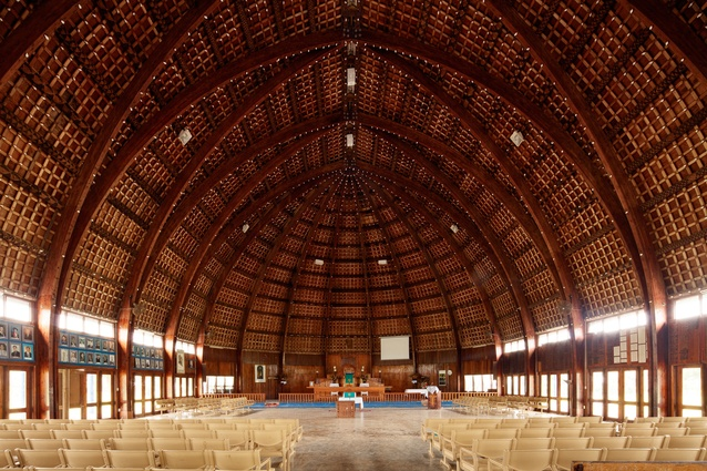 Tupou College's Moulton Memorial Chapel is one of the great buildings of the Pacific, designed by Lloyd Evans and George Moala in 1986, but with roots back to the very first chapel in Tonga, a fale constructed  in 1826.