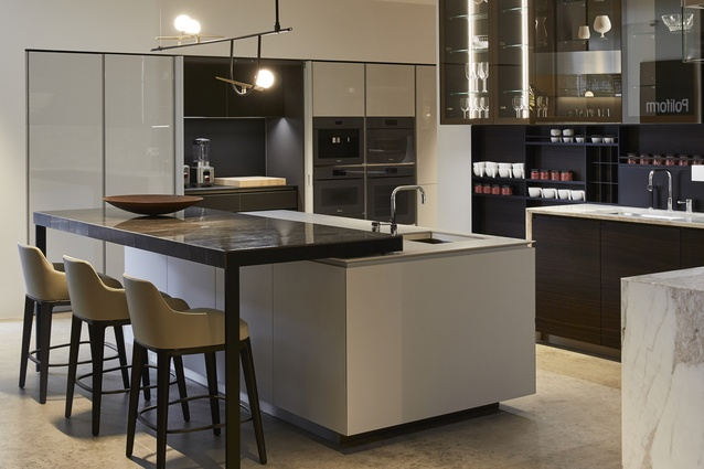 The Trail-meets-Artex kitchen also features Spessart oak timber, bronzed glass and exquisite cabinetry detailing.
