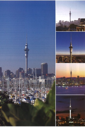 The Sky Tower from afar. Taken in 1997.