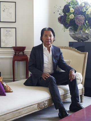 Fashion designer Kenzo Takada in his Paris apartment.