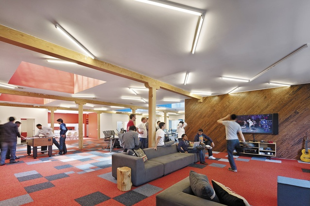 The head office for gaming company Pocket Gems looks more like a rumpus room than a corporate building.