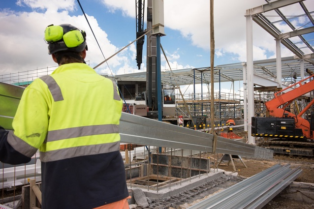 The large site required a lot of civil works on the building, designed to achieve a 5 Star Green Star Building rating.