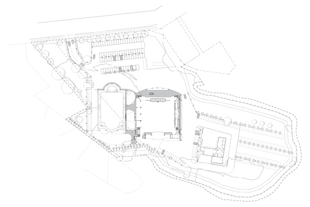 Site plan of the Lesieli Tonga Auditorium.