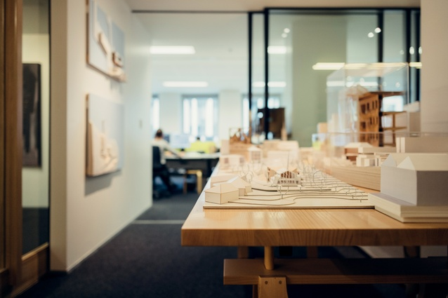 Models in the Architectus office.