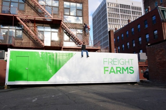 A Freight Farms container.