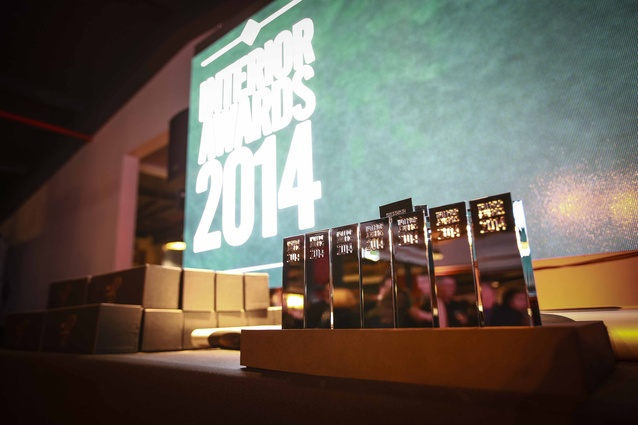 Interior Awards trophies.
