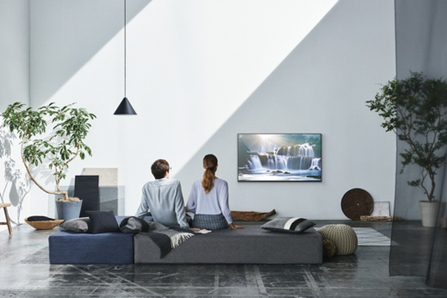 The Sony Bravia A1 Oled TV in action.