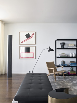 They wanted a clean, contemporary interior that was timeless and also had a somewhat New York loft feel to it.