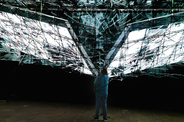 The LightSense installation is an immersive event which augments physical constructions with holographic animations and artificial intelligence.