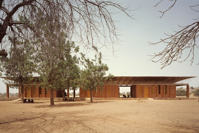 Kéré was inspired by the figure of a tree in the landscape, a special baobab tree in his village in Burkina Faso that serves as a central meeting point.
