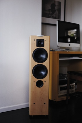Cabasse speakers. These speakers are the first item that the couple unpacks whenever they move house. They both share a love of music and have similar taste.