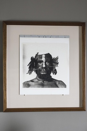 Irving Penn's print of a Tambul warrior. Tribesman with nose ornament, New Guinea, print number 9 of 12.