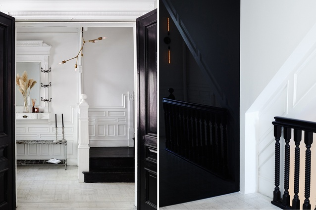 Elegant and classic black and white interiors.