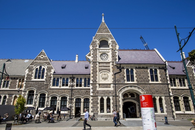 Heritage category finalist: Christchurch Arts Centre Clock Tower & Great Hall by Warren and Mahoney Architects.
